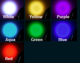 uplighting color selection